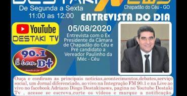 Entrevista   Ex Presidente da Câmara Paulinho da Méc   Céu