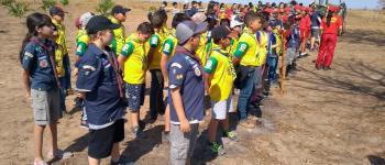 Bombeiros mirins de Jataí - GO  participam de acampamento com grupo escoteiros do Brasil