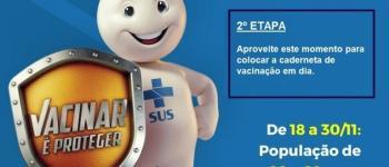 Secretaria de Saúde de Chapadão do Sul inicia 2º etapa da campanha de vacinação contra o sarampo. Vem se vacinar.