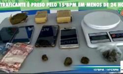 Traficante é detido pelo 15ºBPM em menos de 24 horas em Serranopolis
