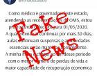 Postagem de Caiado sobre decreto prorrogado é FAKE NEWS