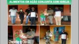 Policiais da 7ªCIPM realizam entrega de alimentos em ação conjunta com igreja