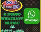 A Rádio Integração Fm de Chapadão do Céu informa a mudança de  whatsapp