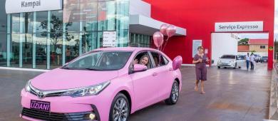 """Diretora da marca Mary Kay em Chapadão do Sul conquistou o famoso """"Carro Rosa"""" e mostrou a força do Empreendedorismo Feminino"""