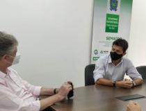 Prefeito de Costa Rica participa de reunião na Semagro visando colocar município na Rota Bioceânica