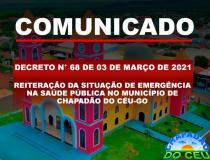 Prefeitura Publicou Novo Decreto nesta terça-feira