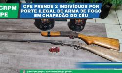 CPE PRENDE 2 INDIVÍDUOS POR PORTE ILEGAL DE ARMA DE FOGO EM CHAPADÃO DO CÉU