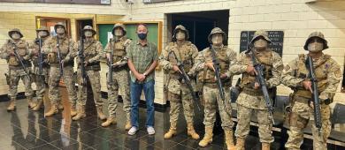 Hoje tivemos a visita da tropa do COD (Comando de Operações de Divisa)