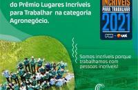 Prêmio Lugares Incríveis para Trabalhar: CerradinhoBio conquista segundo lugar na categoria Agronegócio
