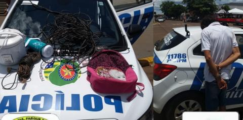 Policiais da 7ª CIPM realizam prisão em flagrante de autor de furto