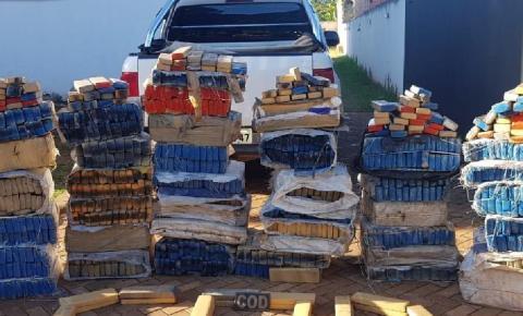 CPR apreende cerca de 1500kg de maconha na região sudoeste de Goiás