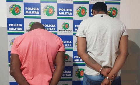 Em ação rápida PM prende ladrões de celulares com mandados de prisão em aberto em Jataí-GO