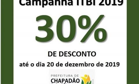 Campanha ITBI 2019 oferece 30% de desconto