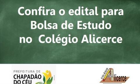 Prefeitura publica edital para bolsas no Colégio Alicerce