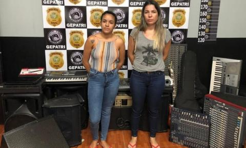 Mãe e filha são presas suspeitas de vender na web instrumentos musicais furtados em igrejas de Goiás