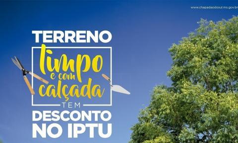 Construção de calçada em terreno baldio gera desconto no IPTU 2020: proprietários devem procurar a CAC