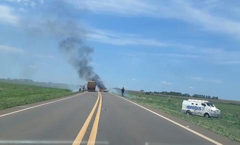 Carro-forte é assaltado por homens armados de fuzil entre Caarapó e Amambaí