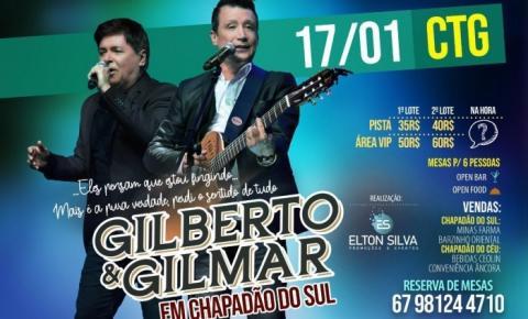 Gilberto e Gilmar estão chegando em Chapadão do Sul no dia 17 de Janeiro