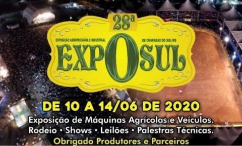 Sindicato Rural divulgou a data da 28ª Exposul 2020