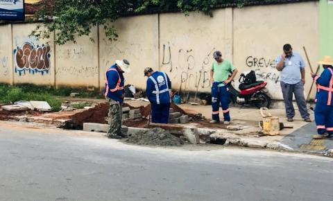 Obras de drenagem na Avenida Araguaia têm início e causam alterações no trânsito, em Goiânia