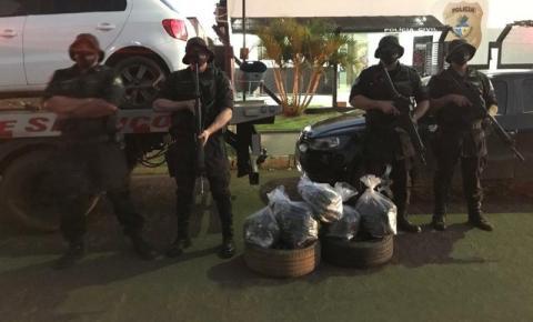 COD prende quatro homens na região sudoeste de Goiás transportando supermaconha escondidas nos pneus