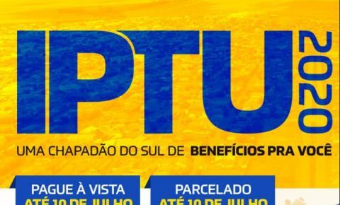 Prefeitura lança campanha do IPTU 2020 com descontos e R$ 100 mil em prêmios