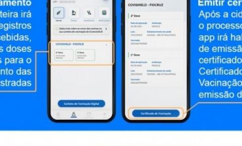 Conecte Sus: Certificado Digital de vacinação contra Covid-19 em seu celular