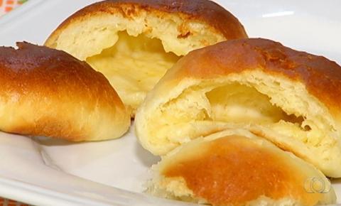 Confeiteira de Catalão ensina como fazer pão de batata inglesa recheado com queijo