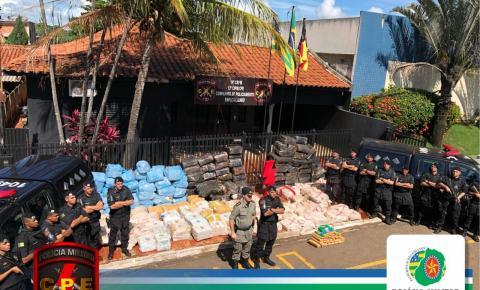 CPE apreende caminhão carregado com cerca de 4 toneladas de maconha em Jataí