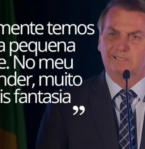 Bolsonaro diz que 'pequena crise' do coronavírus é 'mais fantasia' e não 'isso tudo' que mídia propaga